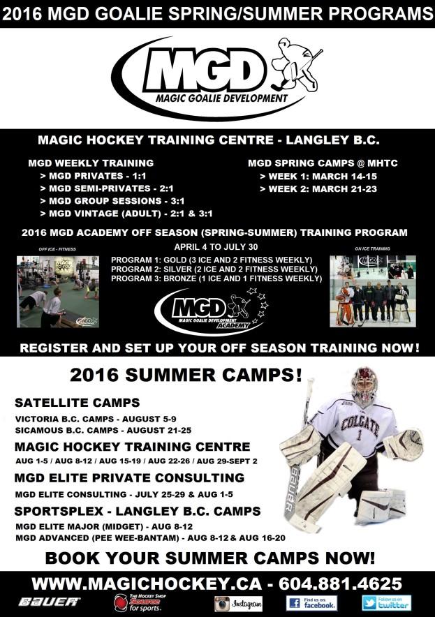 2016 MGD Goalie Spring-Summer Programs_ Poster