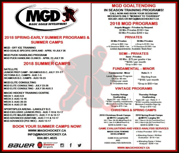 2018 MGD Programs & Camps_Goalie